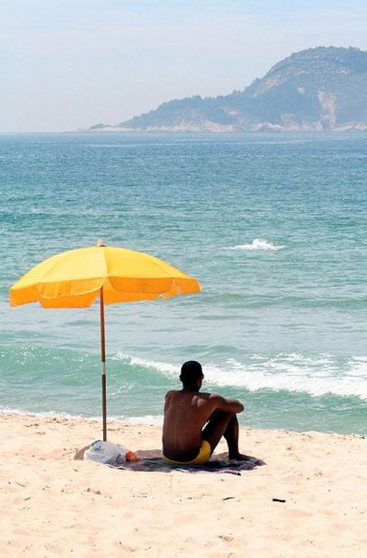 A Man and his umbrella