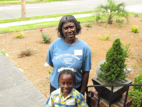 My cousin Carolyn always help organize our family reunion which we appreciate.  She introduced her grandson Maleek.