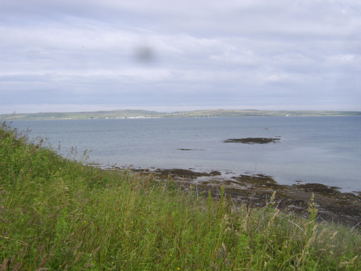 Looking west over Loch Indaal and towards Bruichladdich from near Bowmore