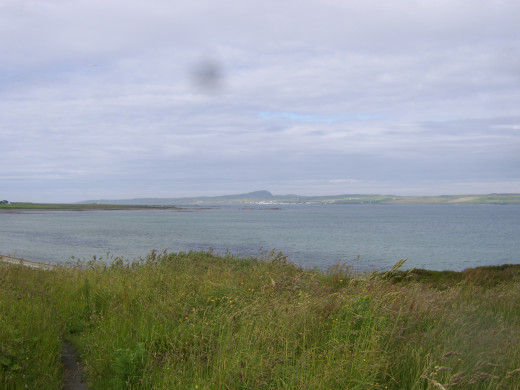 Looking south-west over Loch Indaal and towards Port Charlotte from near Bowmore