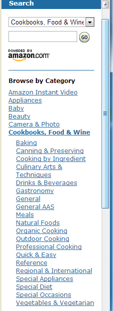 Amazon Food Service Sub Category
