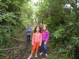 Our grandchildren on the Celtic Dragon Trail