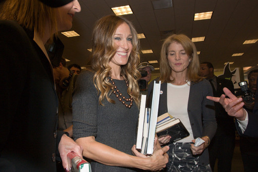 Don't you like Sarah Jessica Parker. I do. Here's a free use, legal image of her I obtained from Flickr Creative Commons, attributing here where I got it.