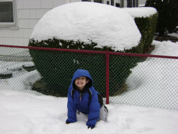 Matty playing in the snow