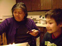 Matty with grandma