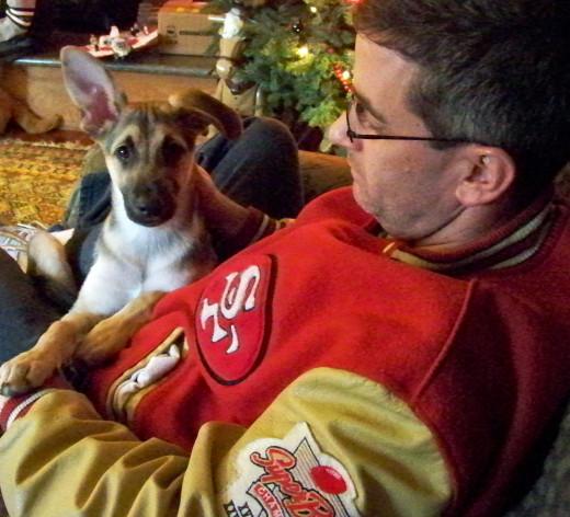 Ron and his Coy-boy, Smokey            /  Dec  2011