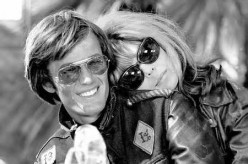 """With Nancy Sinatra in """"The Wild Angels"""""""