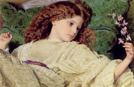 Dreams, Frederick William Burton, 1863 In the public domain in the United States.
