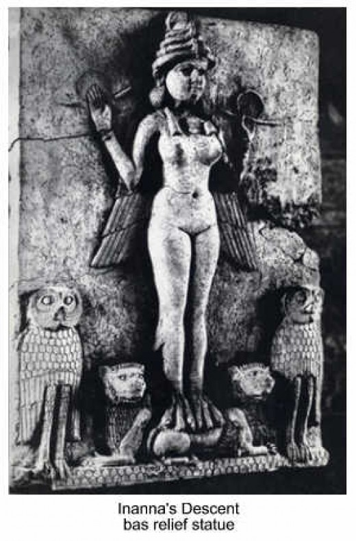 Goddess Inanna (Ishtar), the Queen of Heaven and Earth