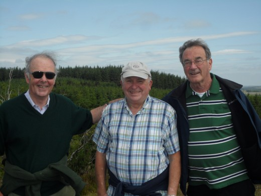 The threesome together on Mulleyash, Jonny, Gordon and I