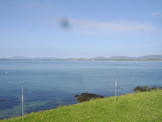 Looking out over Loch Indaal from Port Charlotte towards Bowmore