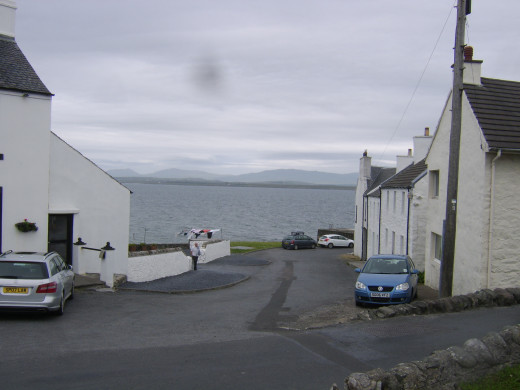 Loch Indaal from the A847 road which runs through Port Charlotte