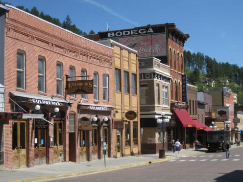Main street in Deadwood, South Dakota