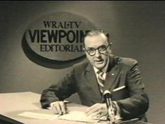 While at WRAL TV, Helms did a news editorial that gained him attention throughout eastern North Carolina.