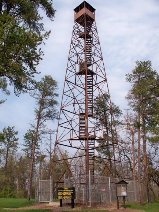 The Fire Tower at Ouabache State Park