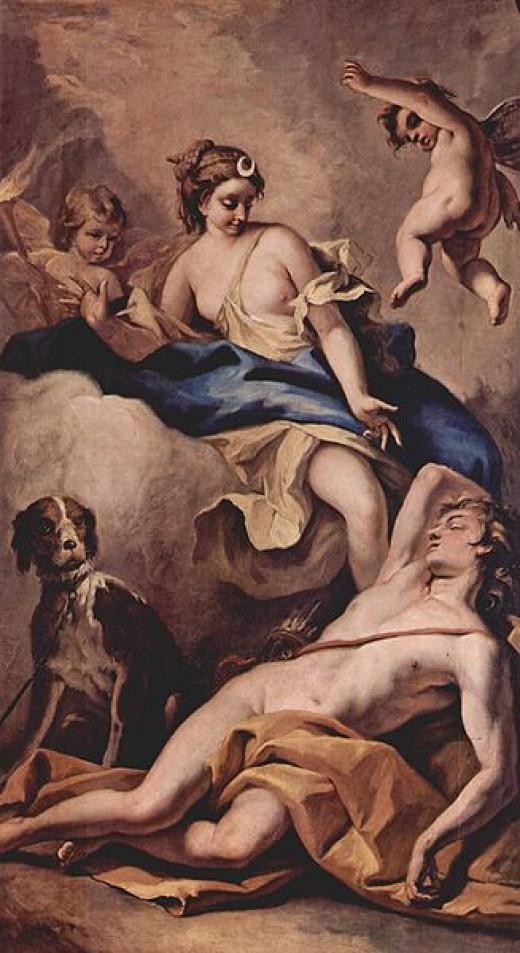 Sélène et Endymion by Sebastiano Ricci