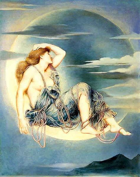 Luna by Evelyn De Morgan, 1885