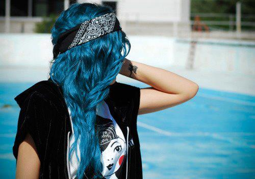 Vibrant Blue Hair!