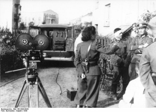 Leni Riefenstahl covering the Polish campaign.