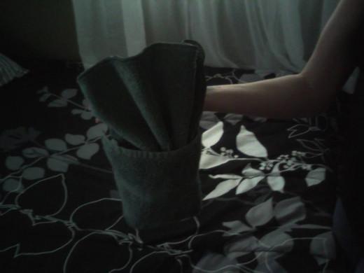 Easy pocket towel origami