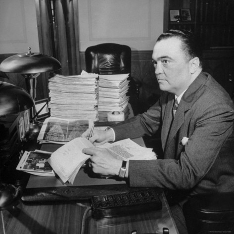 FBI Director J Edgar Hoover collected files on everyone.