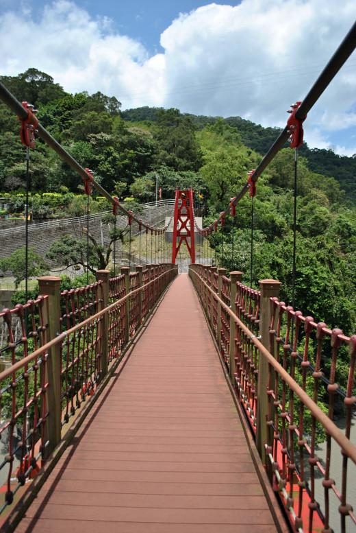 A bridge before the village.