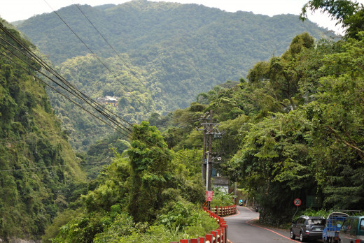 """It is the way to waterfall called """"Wulai Waterfall"""". It is a very nice place. One can take also small tram for 50 TWD. In addition, one also might walking about 1,6 kilometers among green trees, noise of the river and insects. Very romantic."""