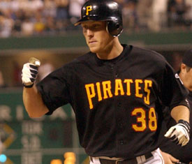 Jason Bay #38  Pirate statistics: .281, 139 HR, 452 RBI in 6 seasons