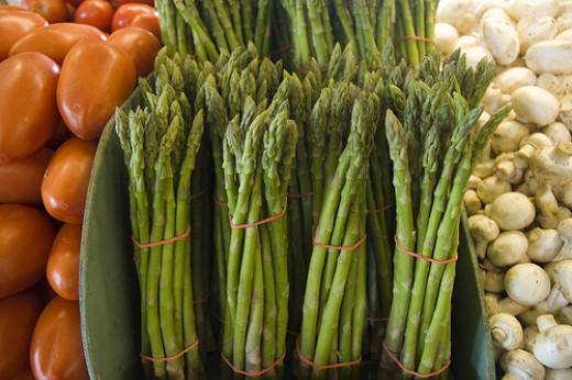 Beautiful, fresh asparagus