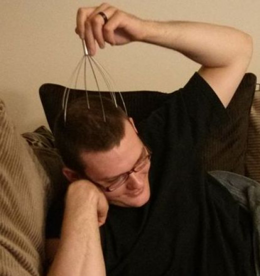 This head scratcher was ONE DOLLAR. My husband is in love with it.
