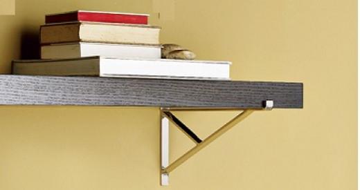 Single Board Shelf Held Up By A Shelf Bracket