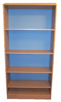 Mutli-Shelf Book Case Made of Plain Wood Boards