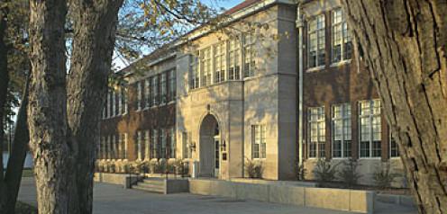 Monroe Elementary School. One of four all black schools in Topeka