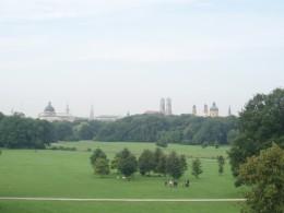 A view of downtown from the Englischer Garten