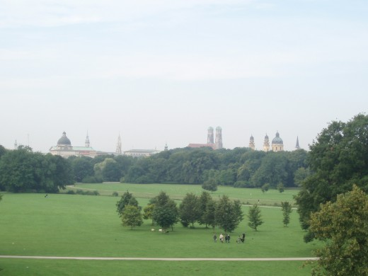 A view of downtown from the Englischer Garten
