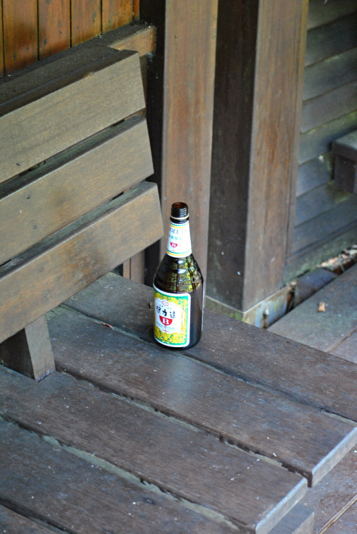 Even in Taiwan are empty bottles after a beer.