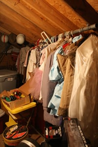 Vintage clothes in the attic