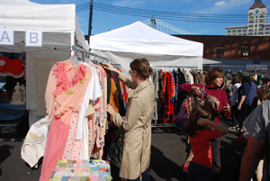 Flea market shopping