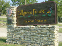 Tallgrass Preserve entry sign