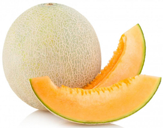 Cantaloupe are also a great source of vitamin A. A 100 gram serving will provide 68% DV of vitamin A. Same goes for other yellow/orange melons.