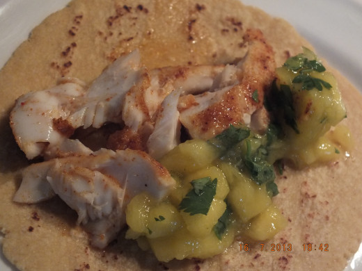 The above picture is the tuna and this is the grouper. They both make awesome tacos!
