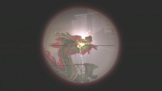 Shooting the Dragon Orbs