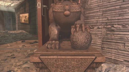 The Dragon Orb is under the claw of the Dragon Statue.