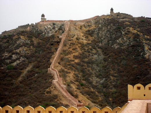 Jaigarh Fort as viewed from Amber Palace