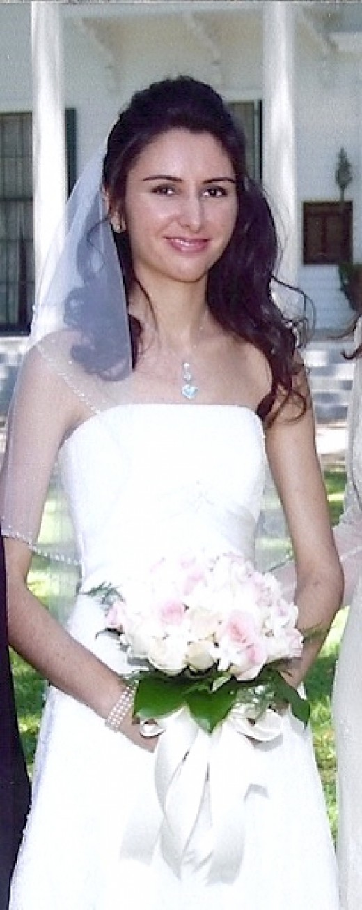 My sister's lovely daughter (my niece) on her wedding day.  My niece was a very beautiful bride!
