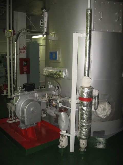An Auxiliary Boiler Installed in Ship