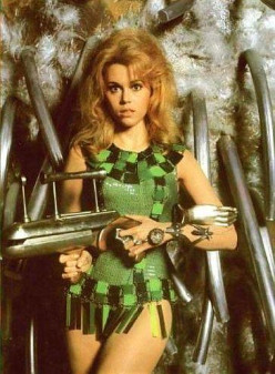 Jane Fonda as futuristic sex bomb, 'Barbarella'