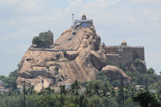 Rock Fort Temple dedicated to Vinayaka known as Uchi Pillaiyar