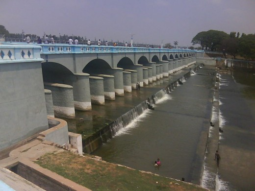 Kallanai, an ancient dam and a popular picnic joint.