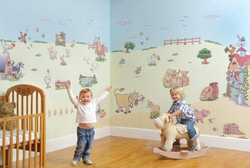 Wall decals make it quick and easy to turn your child's walls into a work of art.